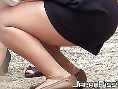 Japanese baby peeing in the flesh take coupled with brute filmed unconnected with voyeur