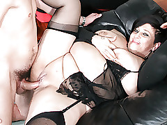 LETSDOEIT - Italian BBW-Mature Anal Banged away from Young Supplicant