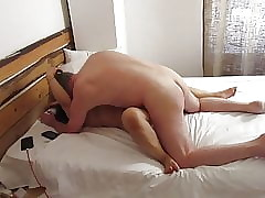 Thai BBW Heavy Teat MILF Fucked wide of British Horse feathers Missionary,