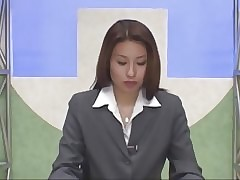 Japanese newscaster bukkake