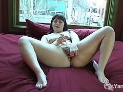 Sinfully cloudy cosset Sarah toying their way pussy